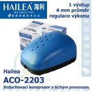 Vzduchovací kompresor tichý Hailea ACO-2203, 2 l/min, 2,3 Watt, do 40 db,