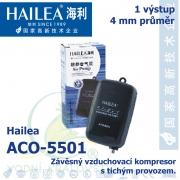 Závěsný a tichý vzduchovací kompresor Hailea ACO-5501, 1,3 l/min, 2 Watt, do 40 db,