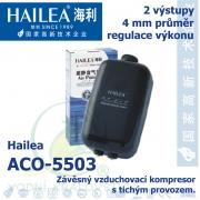 Závěsný a tichý vzduchovací kompresor Hailea ACO-5503, 3,5 l/min, 3 Watt, do 40 db,