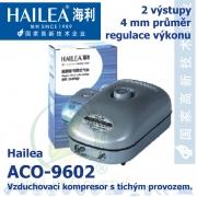 Vzduchovací kompresor tichý Hailea ACO-9602, 7,2 l/min, 5 Watt, do 40 db,