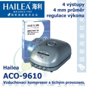 Vzduchovací kompresor tichý Hailea ACO-9610, 10 l/min, 10 Watt, do 45 db,
