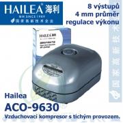 Vzduchovací kompresor tichý Hailea ACO-9630, 16 l/min, 15 Watt, do 45 db,