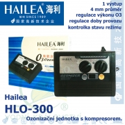 Ozonizační jednotka s kompresorem Hailea HLO-300, 30-300mg/h, regulovatelná s časovačem