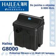Hailea G8000-UVC 11 Watt, průtočná filtrace s UV 11 Watt, pro jezírka do 6-12.000 litrů