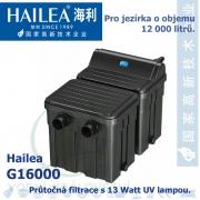 Průtočná filtrace Hailea G16000 s 13 Watt UV, do jezírka 12.000 litrů