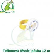 Teflonovátěsnícípáska12metrů,tlaková, 12mx12mmx0,1mm