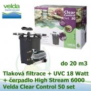 Tlaková filtrace Velda Clear Control 50 Set, UVC lampa 18 Watt, čerpadlo High Stream 6000 pro jezírka do 20 m3