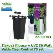 Tlaková filtrace Velda Clear Control 75 + UVC lampa 36 watt pro jezírka do 30 m3