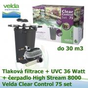 Tlaková filtrace Velda Clear Control 75 Set, UVC lampa 36 Watt, čerpadlo High Stream 8000 pro jezírka do 30 m3