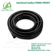 Hadice POND-PROFI 32 mm ( cca 1 1/4), cena za 1 metr 79 Kč, při odběru celého balení 30 metrů.