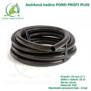 Hadice POND-PROFI PLUS 25 mm (1), cena za 1 metr 85 Kč, při odběru celého balení 25 metrů