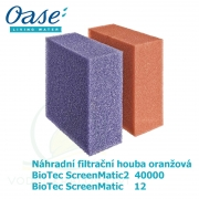 Náhradní filtrační houba oranžová pro Biotec ScreenMatic 12, ScreenMatic2 40 000 a 90.000