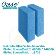 Náhradní filtrační houba modrá pro Biotec ScreenMatic 18/36, ScreenMatic2 60 000/140 000