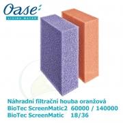 Náhradní filtrační houba oranžová pro Biotec ScreenMatic 18/36, ScreenMatic2 60 000/140 000