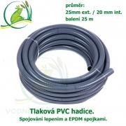 Tlaková PVC hadice 25mm ext. / 20 mm int. , cena za 1 metr 69 Kč, při odběru celého balení 25 metrů