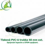 Tlaková PVC-U trubka 40mm ext.