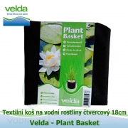 Textilní koš na vodní rostliny čtvercový 18cm x 18cm x 18cm - Velda Plant Basket