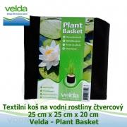 Textilní koš na vodní rostliny čtvercový 25cm x 25cm x 20cm - Velda Plant Basket