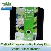 Textilní koš na vodní rostliny kruhový 15cm - Velda Plant Basket