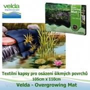 Textilní kapsy pro osázení šikmých povrchů rostlinami 110cm x 105cm - Velda Overgrowing Mat