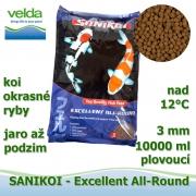 Sanikoi Excellent All Round 3mm, koi a okrasné ryby, jaro až podzim, 10000 ml