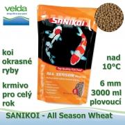 SaniKoi All Season 6 mm, koi a okrasné ryby, pro celý rok, 3000 ml