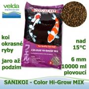 SaniKoi Colour Hi-Grow 6 mm, koi a okrasné ryby, jaro až podzim, 10000 ml