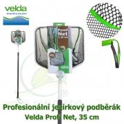 Profesionální jezírkový podběrák Velda Profi Net, čtvercová síťka, 35 cm