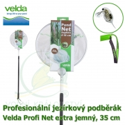 Profesionální jezírkový podběrák Velda Profi Net extra jemný, kruhová síťka, 35 cm