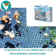 VT jezírková síť 6 x 3 m, velikost oka 20 x 20 mm