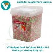 VT Budget food 3-Colour Sticks 10 l, celosezonní krmivo pro všechny druhy ryb