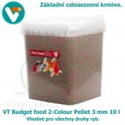 VT Budget food 2-Colour Pellet 3mm 10 l, celosezonní krmivo pro všechny druhy ryb