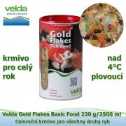 Gold Flakes Basic Food 230 g/2500 ml, od 4°C, vločky, celoroční krmivo pro všechny druhy ryb