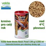 Gold Sticks Basic Food 130 g/1250 ml, od 4°C, žížaly, celoroční krmivo pro všechny druhy ryb