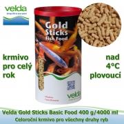Gold Sticks Basic Food 400 g/4000 ml, od 4°C, žížaly, celoroční krmivo pro všechny druhy ryb