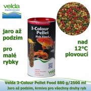 3-Colour Pellet Food 880 g/2500 ml, od 12°C, granule, jaro až podzim, všechny druhy ryb