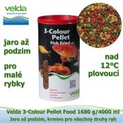 3-Colour Pellet Food 1680 g/4000 ml, od 12°C, granule velikost 2-3 mm, jaro až podzim, všechny druhy ryb