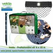 Velda Prefesionální síť 6x10 m, extra jemná, vysoce kvalitní, s úchyty na zakotvení do země