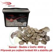 Sansai – lastury z ústřic 4000g, jako filtrační médium, přírodní zvyšování KH, stabilita pH