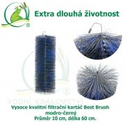 Vysoce kvalitní filtrační kartáč Best Brush modro-černý 60 x 10 cm. Extra dlouhá životnost !