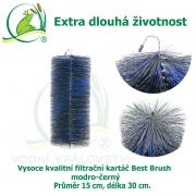 Vysoce kvalitní filtrační kartáč Best Brush modro-černý 30 x 15 cm. Extra dlouhá životnost !