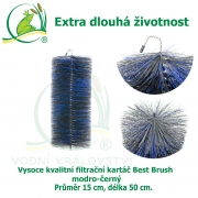 Vysoce kvalitní filtrační kartáč Best Brush modro-černý 50 x 15 cm. Extra dlouhá životnost !