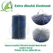 Vysoce kvalitní filtrační kartáč Best Brush modro-černý 60 x 20 cm. Extra dlouhá životnost !