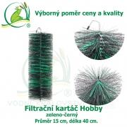 Filtrační kartáč Hobby zeleno-černý 40 x 15 cm. Výborný poměr ceny a kvality.