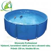 Showvats Pro 150 x 60 cm, výstavní, karanténní nádrž pro koi a okrasné ryby