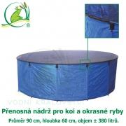 Přenosná skládací nádrž pro koi a okrasné ryby Ø90 cm x H 60 cm (cca 380 litrů)