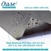 Oase jezírková PVC fólie 0,5 mm 2 m x 100 m, odběr celé role, 49 Kč za 1m2