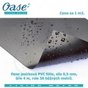 Oase jezírková PVC fólie 0,5 mm 4 m x 50 m, cena za 1m2