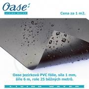 Oase jezírková PVC fólie 1,0 mm 6 m x 25 m, cena za 1m2
