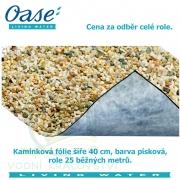 Kamínková fólie šíře 40 cm, barva písková, cena 311 Kč za 1 běžný metr při odběru celé role 25 m